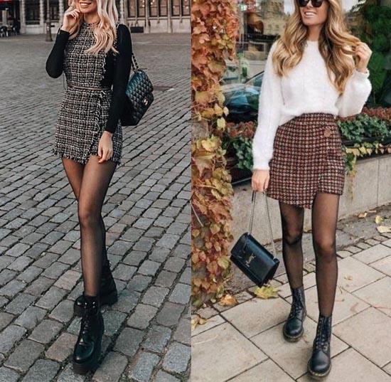 С чем носить мини юбку