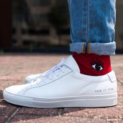 прикольные носки с джинсами