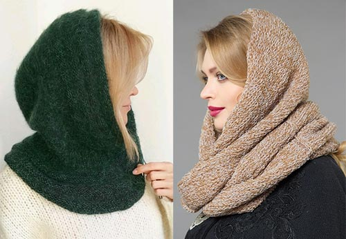 модные вязаные шапки для женщин 50