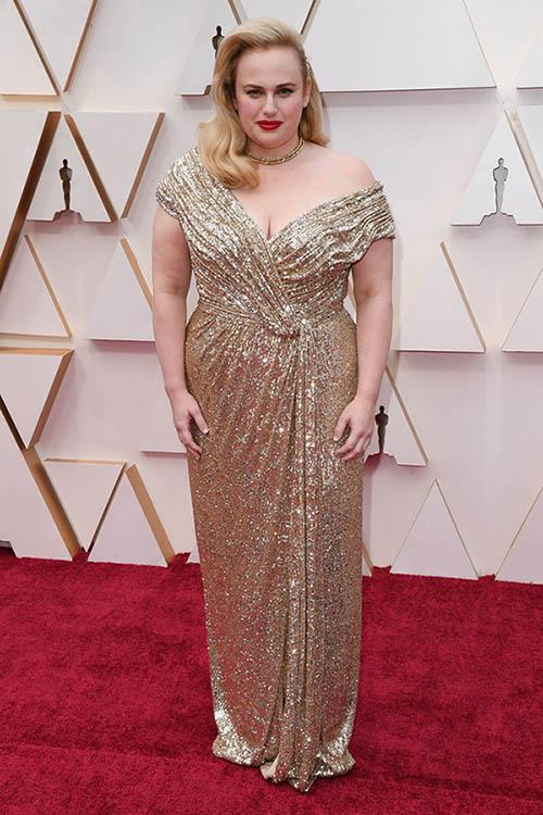 красная дорожка оскар 2020 наряды звёзд фото, вечерние платья для полных женщин