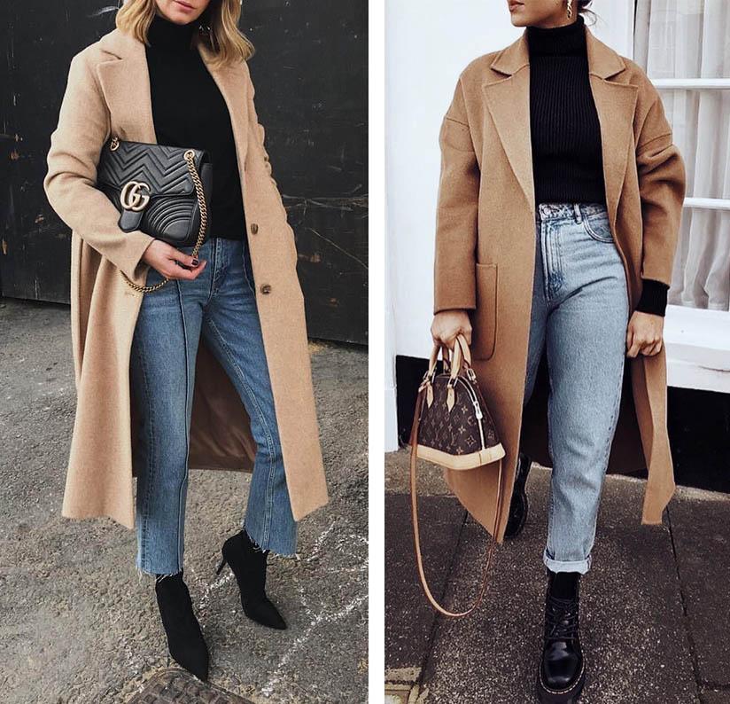 образы с пальто, образы с бежевым пальто
