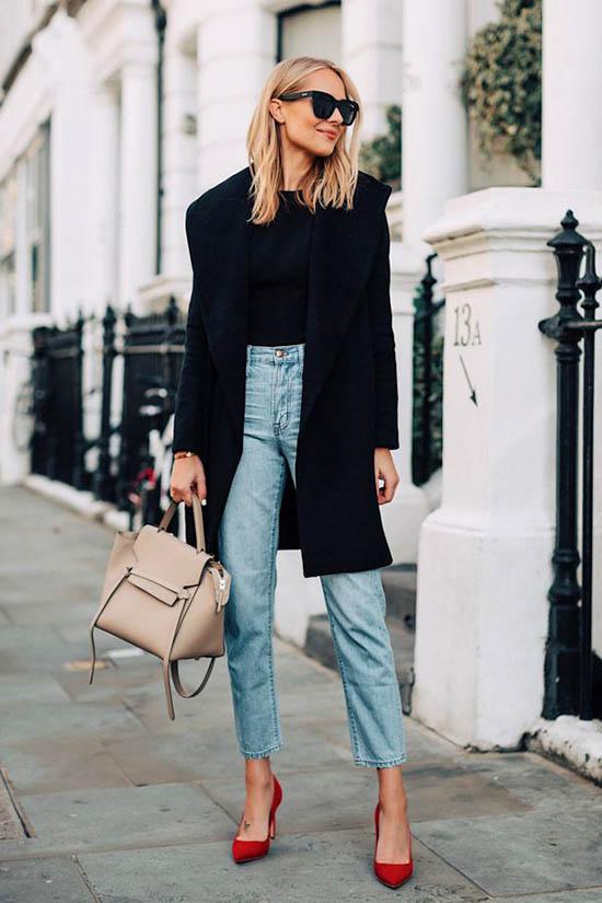 образы с пальто, модные образы с пальто
