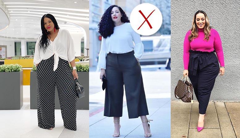 какие брюки носить полным