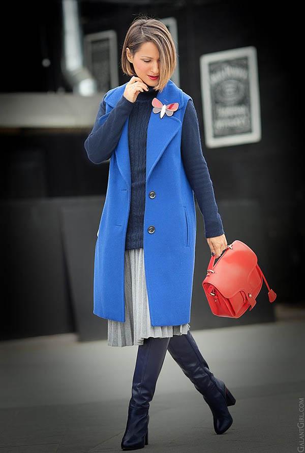 синий цвет с чем носить